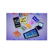 0Mouse Pad Cyber Monday-Bring It  Rectangle Magnet