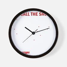 Black99Map10x10 Wall Clock