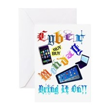 Cyber Monday-Bring It On-2-Trans Greeting Card