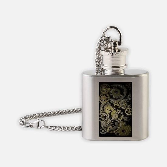 GearsIphone4Slider Flask Necklace