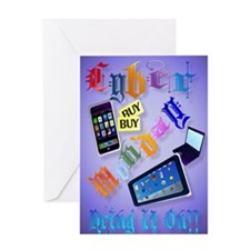 Large Poster Cyber Monday-Bring It O Greeting Card