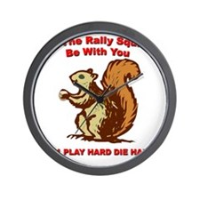 Rally be with you white copy Wall Clock