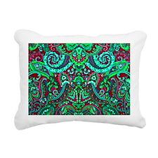 Laptop Neon Funk Rectangular Canvas Pillow