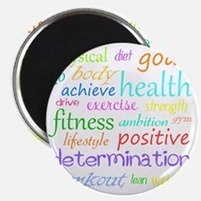 fitness words Magnet