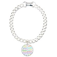 fitness words Charm Bracelet, One Charm