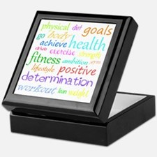 fitness words Keepsake Box
