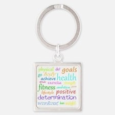 fitness words Square Keychain