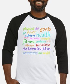 fitness words Baseball Jersey