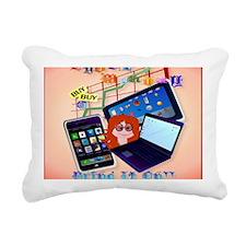 0Mouse Pad Cyber Monday- Rectangular Canvas Pillow