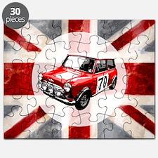 616 Union Jack Mini Montage for Cafe Press  Puzzle
