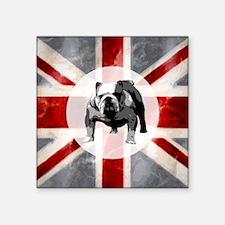 "616 Union Jack Bulldog Mont Square Sticker 3"" x 3"""