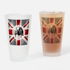 616 Union Jack Bulldog Montage for  Drinking Glass