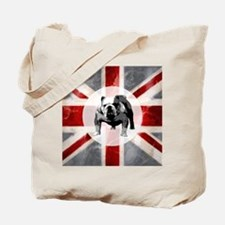 616 Union Jack Bulldog Montage for Cafe P Tote Bag