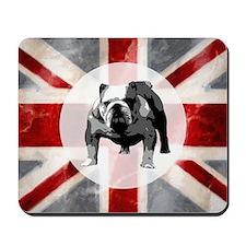 616 Union Jack Bulldog Montage for Cafe  Mousepad