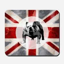 616 Union Jack Bulldog Montage for Cafe  Mousepad