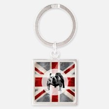 616 Union Jack Bulldog Montage for Square Keychain