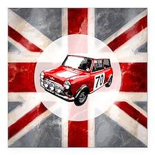 "616 Union Jack Mini Mont Square Car Magnet 3"" x 3"""