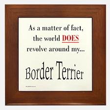 Border Terrier World Framed Tile