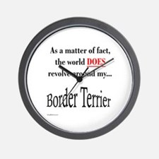 Border Terrier World Wall Clock