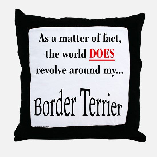 Border Terrier World Throw Pillow