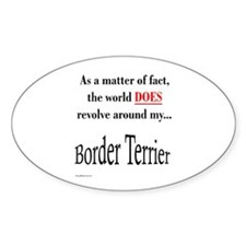 Border Terrier World Oval Decal