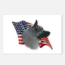 Elkhound Flag Postcards (Package of 8)