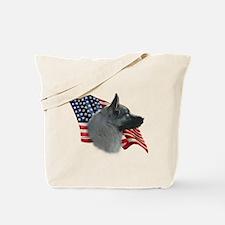 Elkhound Flag Tote Bag