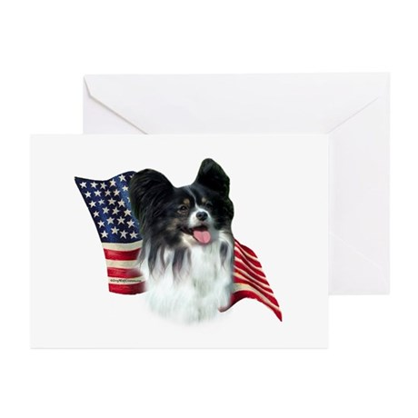 Papillon Flag Greeting Cards (Pk of 10)