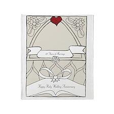 wedding_40_anniversary_print Throw Blanket
