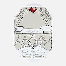 wedding_40_anniversary_print Oval Ornament