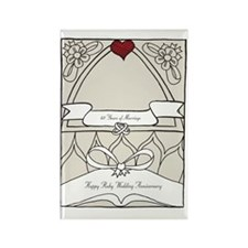 wedding_40_anniversary_print Rectangle Magnet