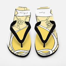 wedding_50_anniversary_print Flip Flops