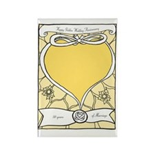 wedding_50_anniversary_print Rectangle Magnet