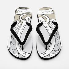wedding_25_anniversary_print Flip Flops
