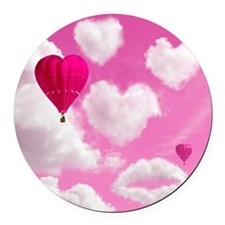 556 Heart Clouds for Cafe Press e Round Car Magnet