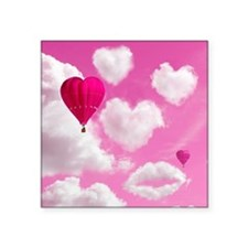 "556 Heart Clouds for Cafe P Square Sticker 3"" x 3"""