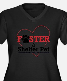 Foster a She Women's Plus Size Dark V-Neck T-Shirt