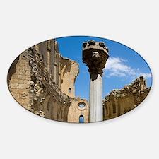 Cyprus, Bellapais, Gothic Abbey Sticker (Oval)