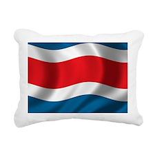 costarica_flag Rectangular Canvas Pillow