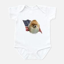 Pomeranian Flag Infant Bodysuit
