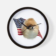 Pomeranian Flag Wall Clock