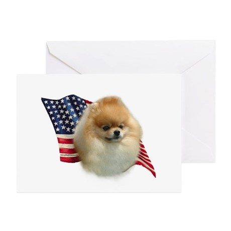 Pomeranian Flag Greeting Cards (Pk of 10)