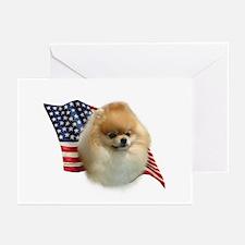 Pomeranian Flag Greeting Cards (Pk of 10)