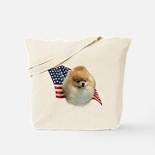 Pomeranian Flag Tote Bag