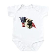 Pug Flag Infant Bodysuit