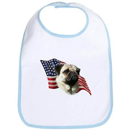 Pug Flag Bib
