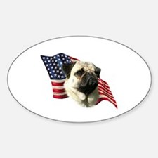 Pug Flag Oval Decal