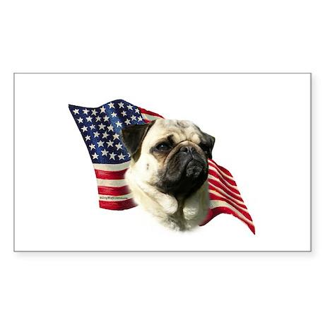 Pug Flag Rectangle Sticker