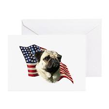 Pug Flag Greeting Cards (Pk of 10)