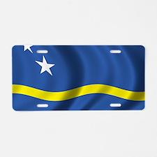 curacao_flag Aluminum License Plate